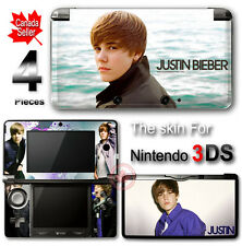 Justin Bieber SKIN VINYL STICKER COVER for Nintendo 3DS