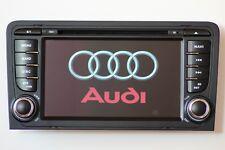 AUTORADIO NAVIGATORE DVD GPS MP3 SD BLUETOOTH PER AUDI A3 S3 DAL 2003 AL 2013