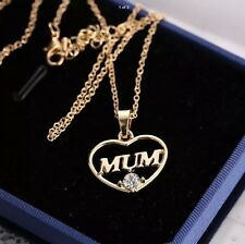 Beautiful Mum and daughter gold love heart gift for birthday Mother's Day