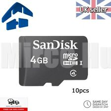 10x SanDisk Micro SD 4GB SDHC Memory Card Microsd TF Mobile Phone Class 4
