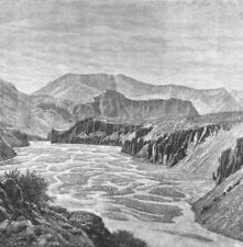 INDIA. Erosions of Spiti river Parang pass c1885 old antique print picture