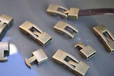 6 Cierres Zamak Bronce (A.10,6 x 3,4mm) gancho abalorios cuero (CM-22B) pulseras