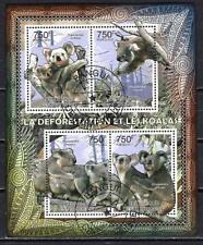 Animaux Koalas Centrafrique (262) série complète de 4 timbres oblitérés