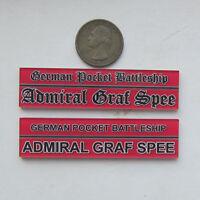 1/700 1/350 Model Plastic Display Plaque Admiral Graf Spee mn032
