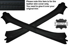 BLACK STITCHING 2X A POST PILLAR LEATHER SKIN COVERS FITS VW GOLF MK3 III CABRIO
