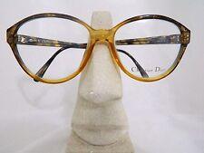 Vintage CHRISTIAN DIOR 2519 Eyeglasses Lunette Brille Occhiali Gafas Gold brown