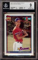 1991 Topps #333 Desert Shield Chipper Jones Rookie RC BGS 9 Mint = PSA 9 HOT!!!!