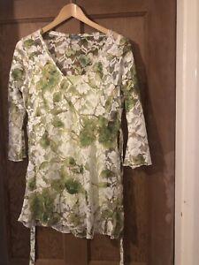 Per Una Blouse Size 12 Hippy Floral Lace