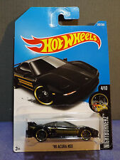 2017 Hot Wheels New BLACK '90 ACURA NSX, HW NIGHTBURNERZ series 4/10. Long card.