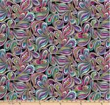 "Benartex Fabric ""Cat-I-Tude"" by Ann Lauer Paisley Fabric by 3/4 Yard Piece"