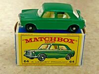 Matchbox Lesney #64b Green M.G. 1100 in Original E4 Box