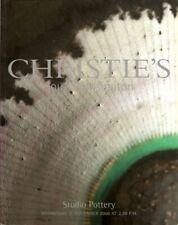 CHRISTIE'S STUDIO POTTERY Cardew Leach  Rie Ward Yasuda Auction Catalog 2000