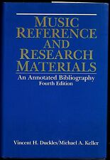 Music Reference and Research Materials by Vincent H. Duckles et al