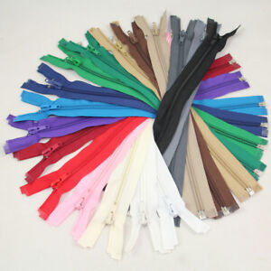 """12"""" - 28"""" OPEN ENDED NO.5 NYLON ZIPS *9 SIZES & 17 COLOURS* ZIPPERS SEWING CRAFT"""