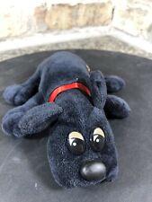 Vintage Tonka Pound Puppies Plush Puppy Dog Stuffed Animal Black 1986 Newborn