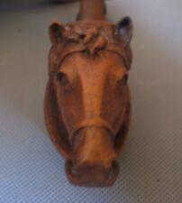 2492* pipe bois sculpté tête cheval  horse vintage ancienne