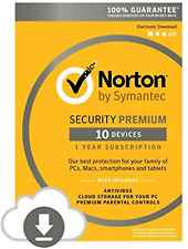 New Norton Security Premium by Symantec 10-Devices 1 Year