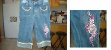 BLUE JEANS PANT WITH EMBROIDERY DESIGN FOR INFANTS(24 MONTHS BABIES) USA SELLER