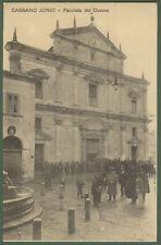(Cosenza) CASSANO JONIO. Facciata del Duomo. Viaggiata dentro busta, anni '20
