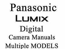Panasonic Lumix DMC Camera User Guide Instruction Manual (group 4 - DMC)