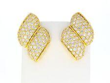 Reinheit IF Echter Diamanten-Ohrschmuck aus Gelbgold mit Brilliantschliff
