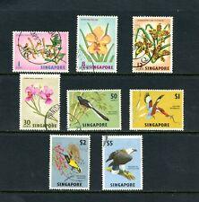 V895  Singapore 1963  flora orchids birds  8v.  used