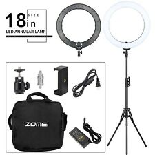 "18"" LED Dimmable Ring Light 5500K Studio Lighting Kit & Tripod Stand Ball Head"