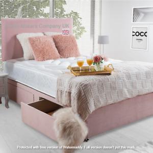 Rich Plush Velvet Divan Bed Base with Storage Option & Headboard ✅BEST ONLINE