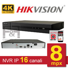 VIDEOREGISTRATORE IP NVR 8MPX 4K 16 CANALI HIKVISION P2P ONVIF 80MBPS
