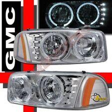 99-06 GMC Sierra 00-06 Yukon Halo LED Headlights RH + LH