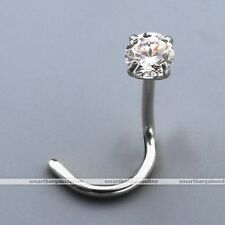 9mm 20G Stainless Steel Curved Nostril Body Piercing Jewelry Punk Nose Ring Stud