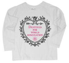 Vêtements T-shirt rose à manches longues pour fille de 2 à 16 ans
