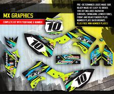 2013 2014 2015 KXF 250 GRAPHICS KIT KAWASAKI KX250F MOTOCROSS BIKE GREY DECALS