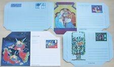 Gb Airletters – 4 Different – 3 Christmas + 6p Vc10 – Mint (Le1)