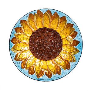 "Sunflower Bird Bath Bowl 18"" Outdoor Garden Decor"