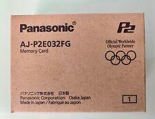 Panasonic 32GB P2 Card - AJ-P2E032FG F-Series P2 Memory Card NEW / Sealed