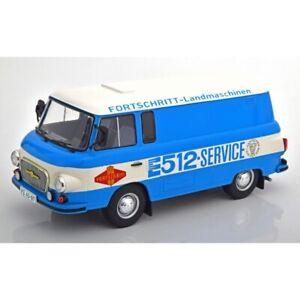 Barkas B 1000 Box Wagon 1970 Light Blue 1/18 - 18211 MCG
