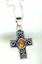 "Less than 13"" Oval Amber Fine Necklaces & Pendants"