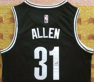 Jarrett Allen Signed Autograph Brooklyn Nets Jersey NBA NCAA UT Texas USA