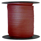 Anchor Rope Dock Line 38 X 300 Braided 100 Nylon Burgundy Made In Usa