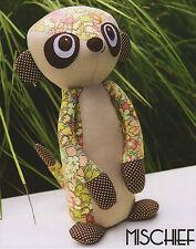 MISCHIEF Meercat - Sewing Craft PATTERN - Soft Toy Felt Doll Animal Softie