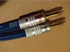 IXOS Hardcore Speaker Cables (4 M paires) avec de nouveaux NAKAMICHI Plugs