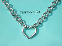 Tiffany & Co Sterling Silver Heart Clasp Choker Necklace