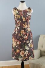 TABITHA Anthropologie Sz 6 Quilted Tema Floral Sheath Dress NWT