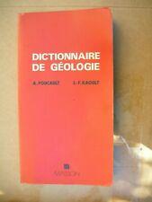 dictionnaire de géologie A Foucault J F Raoult mines 8