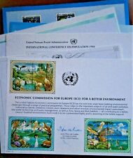 """(10) Different United Nations Postal Souvenir Cards, """"Trade And Development"""", ++"""