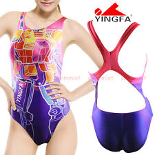 NWT YINGFA 616 COMPETITION TRAINING RACING SWIMSUIT M US GIRLS 12-14 MISS 4 NEW!