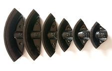 """6 Steel Dies for Hydraulic Pipe Bender Formers 12T 1/2""""-2"""" Tube Benders Bending"""