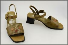 SIOUX GERMANY WOMEN'S LOW HEELS STRAPPY OPEN-TOE FASHION SANDALS SHOES SIZE 7.5