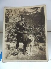 ORIGINAL FOTO 1945 Russian frontier guard with the machine gun and a dog.